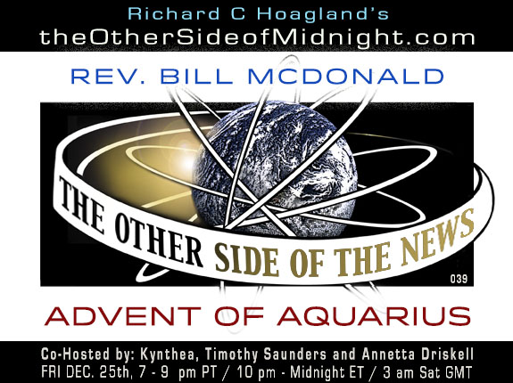 2020/12/25 – Rev. Bill McDonald – ADVENT OF AQUARIUS – TOSN 039