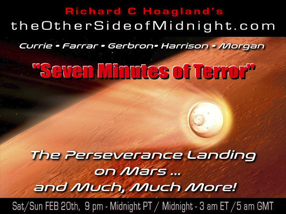 """2021/02/20 – EM Team – """"Seven Minutes of Terror""""  The Perseverance Landing on Mars … and Much, Much More!"""