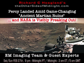 """2021/02/27 – EM Imaging Team & Guest Experts – Percy Landed Amid Game-Changing """"Ancient Martian Ruins"""" … and NASA is Visibly Freaking Out!"""