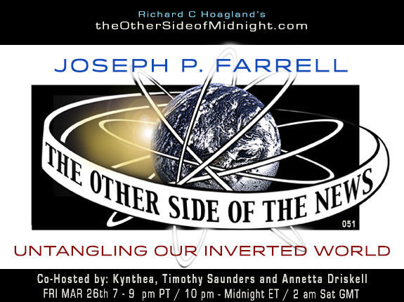 2021/03/26 – Dr. Joseph P. Farrell – Untangling Our Inverted World – TOSN – 51