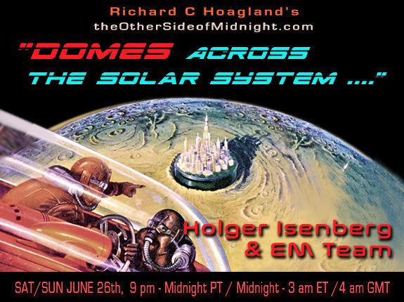 """2021/06/26  – Holger Isenberg & EM Team  – """"Domes Across  the Solar System …."""""""