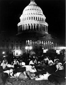 Bonus marchers on capitol lawn, 1932