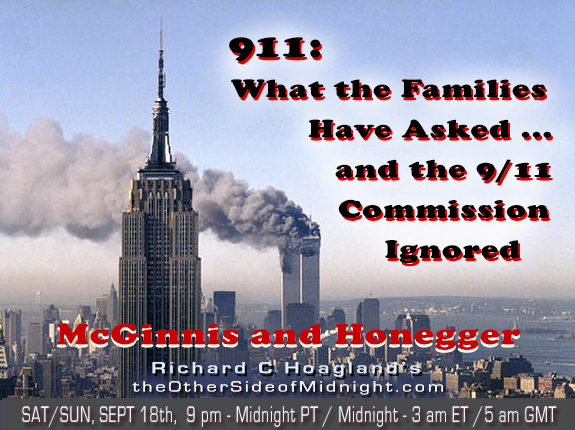 2021/09/18 – Ray McGinnis and Barbara Honegger – 911: What the Families Have Asked … and the 9/11 Commission Ignored