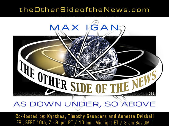 2021/09/10 – MAX IGAN – AS DOWN UNDER, SO ABOVE – TOSN 73